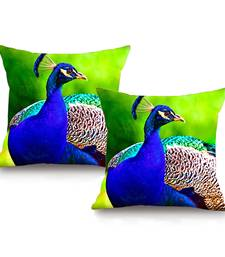 Peacock Digital Printing Cushion Cover (16 x 16 Inch)