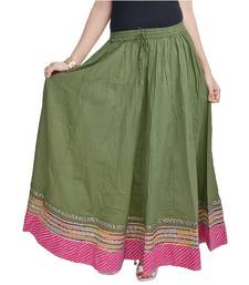 Green Pure Cotton skirts
