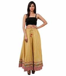 Buy Beige Cotton skirts skirt online