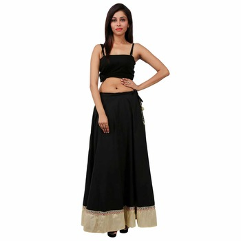 Black Cotton skirts