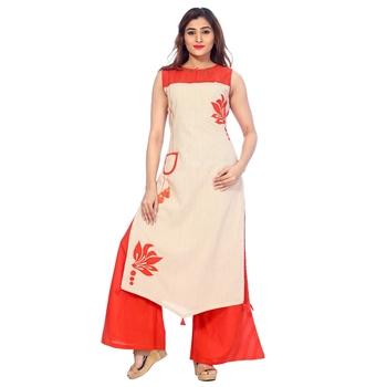 Orange none cotton salwar