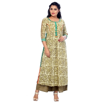 Green none cotton salwar