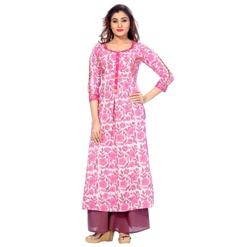 Pink none cotton salwar