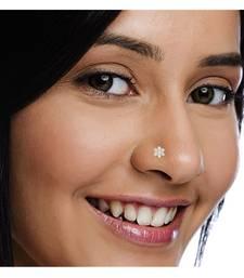 7 Diamond Designer Floral Nose Pin