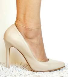 Simple Light Weight Elegant Golden Chain Anklet