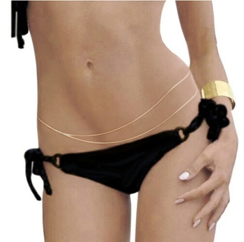 Hot Double Crossover Waist Belt Belly Body Chain Jewelry
