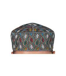 Buy Brand new mens islamic prayer cap muslim topi skull hat kufi style head muslim-cap online