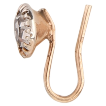 Gold plated rose gold brass nose ring