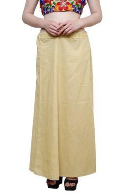 Beige cotton plain cotton petticoat