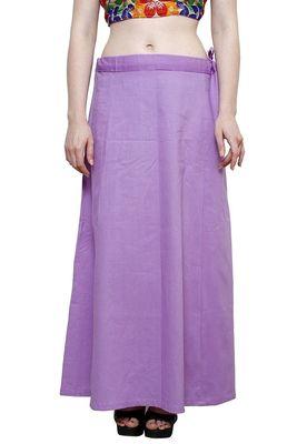 Purple cotton plain cotton petticoat