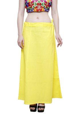 Yellow cotton plain cotton petticoat