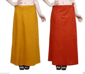Multicolor cotton plain cotton combo petticoat