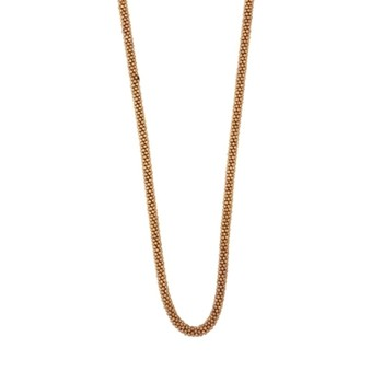 Golden Beads Long Necklace