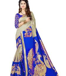 Buy Blue designer printed  saree with blouse printed-saree online
