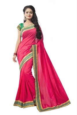 Pink chiffon printed chiffon sarees