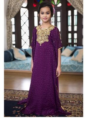 Violet Designer Kids Kaftan