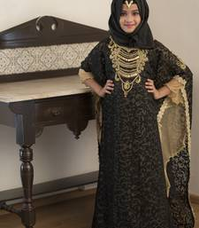 Black And Beige Kids Kaftan