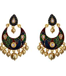 Buy Red Pearl meenakari earrings Earring online