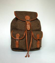 Buy Woolen Herringbone Backpack backpack online
