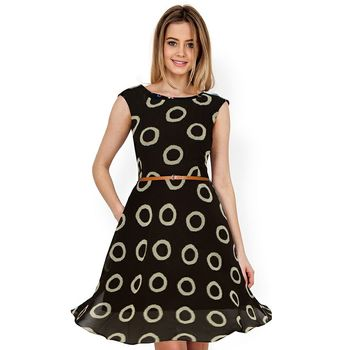 54ec25a9684 Black Printed Georgette Stitched Dress - skyview fashion - 2502560
