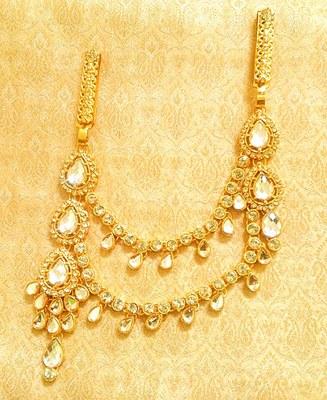 Designer kundan double juda waist belt kamarband ethnic wedding jewellery