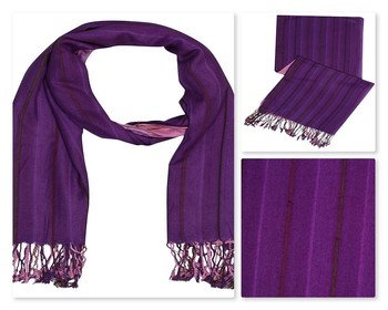 Purple  viscose Islamic Style Stole Daily Wear Arabian Hijab