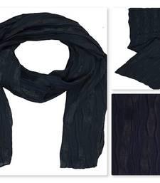 Blue  satin Islamic Style Stole Daily Wear Arabian Hijab