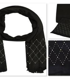 Black  cotton Islamic Style Stole Daily Wear Arabian Hijab