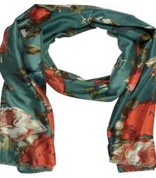 Blue  Cotton Islamic Style Stole Daily Wear Arabian Hijab