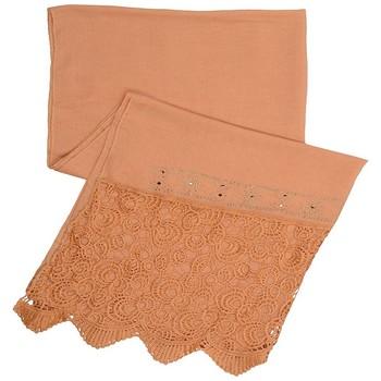 Brown Cotton Islamic Style Stole Daily Wear Arabian Hijab