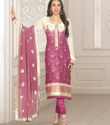 Buy Karishma Kapoor Embroidered Suit Material DN 966 salwars-and-churidar online
