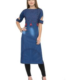Dark blue  denim kurti