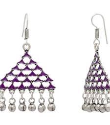 Buy Purple Color Afghani Earrings For Girls & Women Earring online
