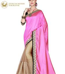 Pink Embroidered Dual Tone Silk Saree With Blouse