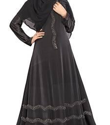 Buy Black Printed Lycra Islamic Style Festive Wear Burka With Hijab burka online