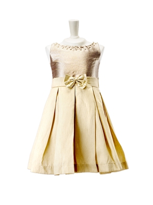 Pleated Dress With Floral Detail kids gown