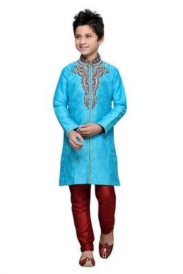 Feeroze art silk kids kurta pyjama for boys