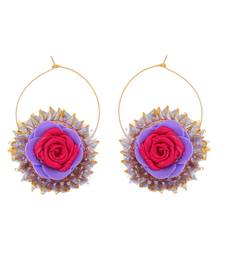 Pink purple handcrafted gotta earring