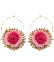 Pink gold handcrafted gotta earring