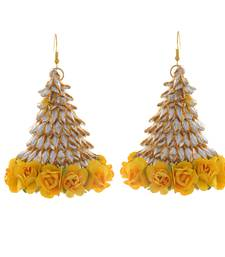 Yellow Gold Stylish Handcrafted Gotta Earring