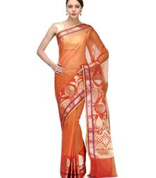 Buy Maroon printed supernet saree with blouse supernet-saree online