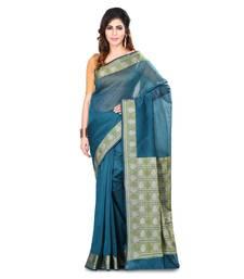 Buy Green woven saree with blouse organza-saree online