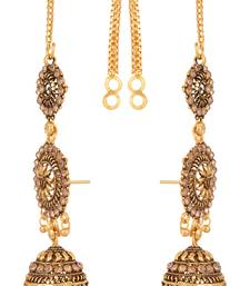 Reeti fashions  - antique finish jhumkas with kaanchain