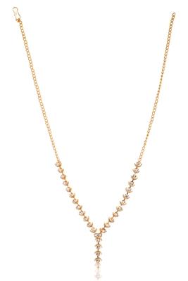 Elegant stone studded golden fashion neck piece