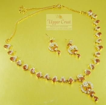 Sunstone American Diamond Gold Plated Jewellery