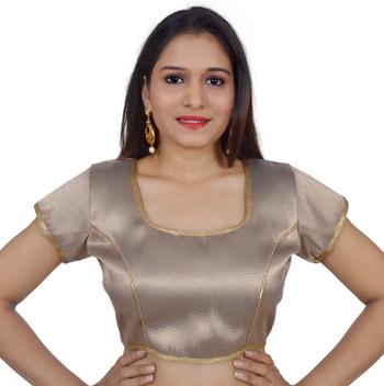 Anmol art silk Self Design stitched blouse