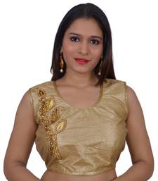 Gold art silk Embellished stitched blouse