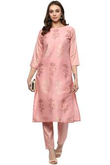 a903ffe05a Pink Kurti Online | Buy Plain Pink Kurtis with Embroidery Neck ...
