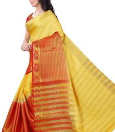 Buy Multicolor woven tussar silk saree with blouse tussar-silk-saree online