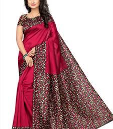 59d424e07a 81% OFF Buy Maroon printed art silk sarees saree art-silk-saree online